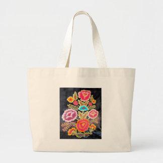 メキシコ刺繍のデザイン ラージトートバッグ