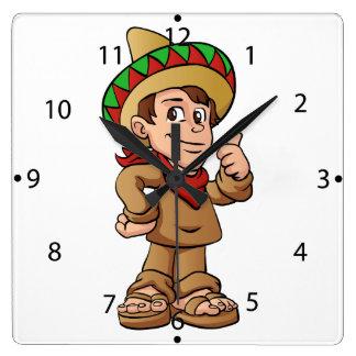 メキシコ子供の漫画 クロック