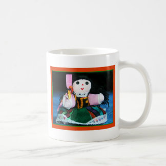 メキシコ布の人形のマグ コーヒーマグカップ