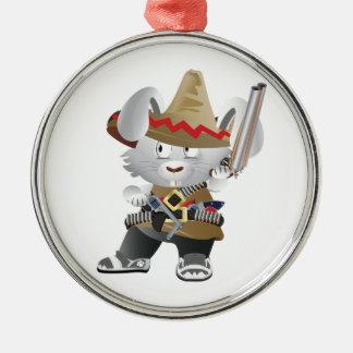 メキシコ強盗のバニー メタルオーナメント