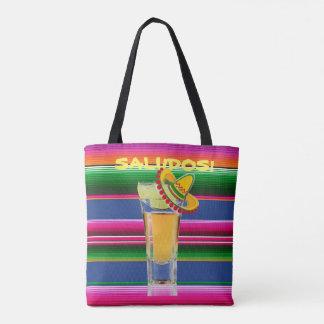 メキシコ毛布およびテキーラのトートバック トートバッグ