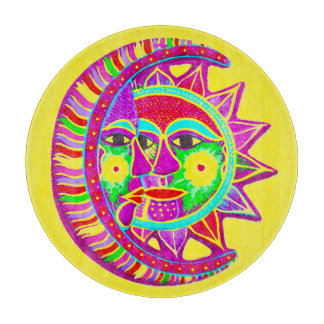 メキシコ民芸日曜日および月 カッティングボード