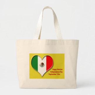 メキシコ独立記念日のトート9月16日 ラージトートバッグ