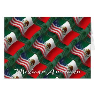 メキシコ系アメリカ人の振る旗 カード