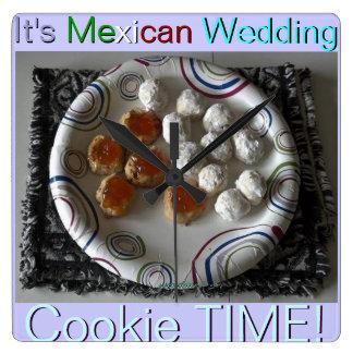 メキシコ結婚式のクッキーの時計 スクエア壁時計