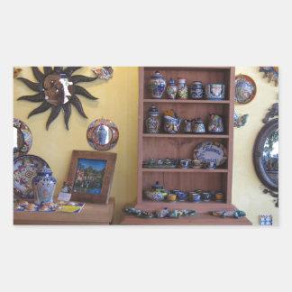 メキシコ職人の家具 長方形シール