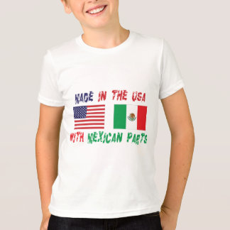 メキシコ部品の子供が付いている米国で作られる Tシャツ