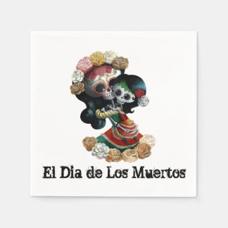 メキシコ骨組母親らしい愛 スタンダードカクテルナプキン