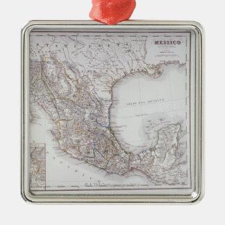 メキシコ2の地図 メタルオーナメント