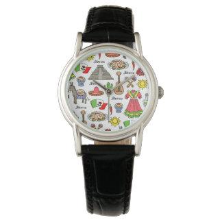 メキシコ|の記号パターン 腕時計