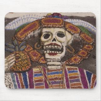 メキシコ、オアハカ州。 砂のタペストリー(tapete de arena) マウスパッド