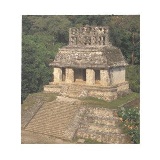 メキシコ、チアパス州の地域、Palenqueの寺院の ノートパッド