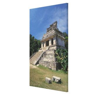 メキシコ、チアパス州の地域、Palenque。 寺院の キャンバスプリント