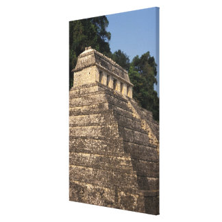 メキシコ、チアパス州の地域、Palenque。 2の寺院 キャンバスプリント