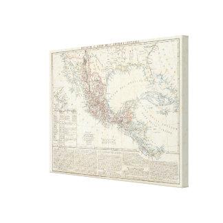 メキシコ、パナマ、中央アメリカ キャンバスプリント