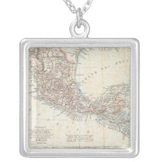 メキシコ、パナマ、中央アメリカ シルバープレートネックレス