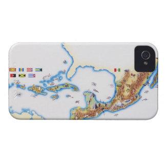 メキシコ、中央アメリカおよびカリブの地図 Case-Mate iPhone 4 ケース