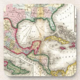メキシコ、中央アメリカの地図 コースター