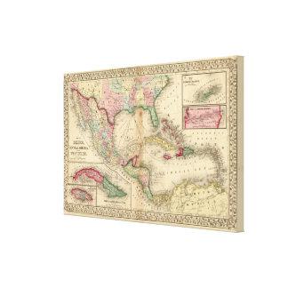 メキシコ、中央アメリカ、西インド諸島 キャンバスプリント