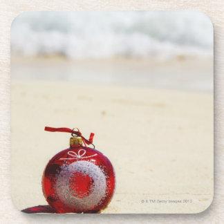 メキシコ、Playa del Carmenのクリスマスの装飾 コースター