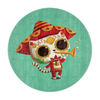 メキシコElのマリアッチのかわいい猫 カッティングボード
