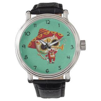 メキシコElのマリアッチのかわいい猫 腕時計