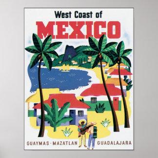 メキシコGuaymas、Mazatlan、Guadalajarの西海岸 ポスター