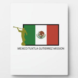メキシコTUXTLA GUTIERREZの代表団LDS CTR フォトプラーク