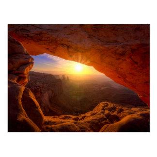 メサのアーチ、Canyonlandsの国立公園 ポストカード