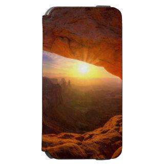 メサのアーチ、Canyonlandsの国立公園 iPhone 6/6sウォレットケース