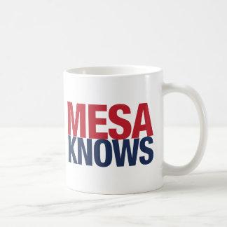メサは知っています コーヒーマグカップ