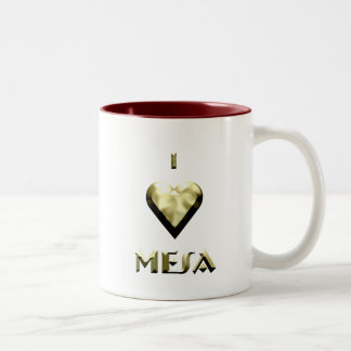 メサ -- 揺らめく金ゴールド ツートーンマグカップ