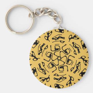メサ(砂漠の黄色)の自然のブロックプリント キーホルダー