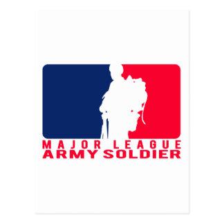 メジャーリーグの軍隊の兵士 ポストカード