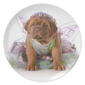 メスの子犬- Dogue De Bordeaux Puppy プレート