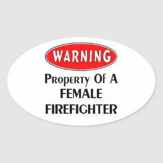 メスの消防士の特性 楕円形シール