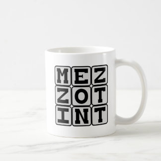 メゾチント、Printmakingプロセス コーヒーマグカップ
