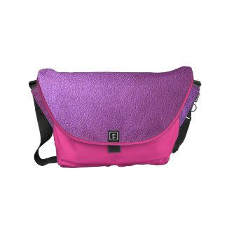 メッセンジャーバッグの輝きの紫色のピンクのレザールック スモールメッセンジャーバッグ
