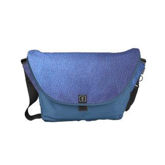 メッセンジャーバッグの輝きの贅沢で青いレザールック クーリエバッグ