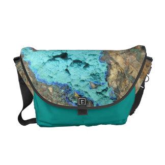 メッセンジャーバッグ--アズライト及びマラカイト メッセンジャーバッグ