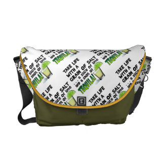 メッセンジャーバッグ-生命、ライム、塩、テキーラ! メッセンジャーバッグ