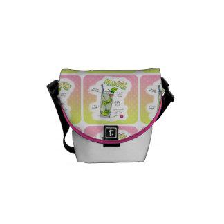 メッセンジャーバッグ- MOJITOのレシピのカクテルの芸術 メッセンジャーバッグ