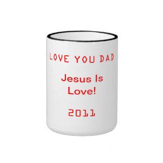 メッセージが付いているコップ リンガーマグカップ
