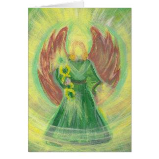 メッセージが付いている大天使Raphaelの挨拶状 カード