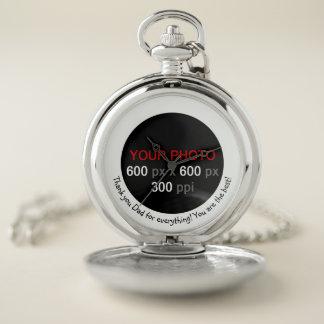 メッセージとあなた自身のカスタムな写真の腕時計を作成して下さい ポケットウォッチ