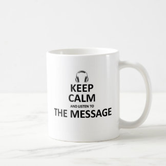 メッセージに聞いて下さい ベーシックホワイトマグカップ