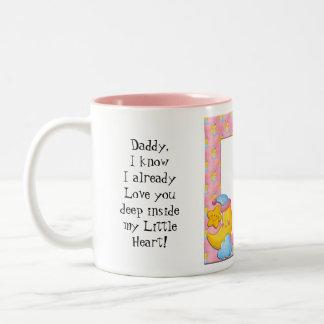 メッセージのお父さんのマグ ツートーンマグカップ