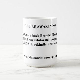 メッセージのコーヒー・マグの再覚醒 ベーシックホワイトマグカップ