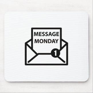 メッセージの月曜日の白のマウスパッド マウスパッド