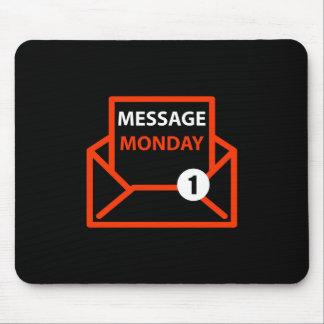 メッセージの月曜日の黒いマウスパッド マウスパッド